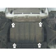 "Защита ""Motodor"" для двигателя и ПД Mitsubishi Pajero IV 2006-2020. Артикул: 61306"