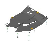 "Защита ""Motodor"" для двигателя и КПП Nissan Micra K12 хэтчбек 2007-2010.Артикул: 61402. Артикул: 61402"