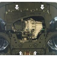 "Защита ""Motodor"" для двигателя, заднего дифференциала и КПП Nissan Tiida 2004-2014.Артикул: 61407. Артикул: 61407"