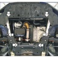 "Защита ""Motodor"" для картера, КПП Citroen C4 I 2008-2010. Артикул: 61604"