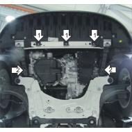 "Защита ""Motodor"" для двигателя и КПП Renault Megane III 2WD 2009-2020.Артикул: 61704. Артикул: 61704"