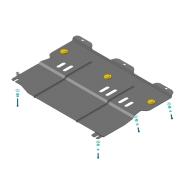 """Защита """"Motodor"""" для картера, КПП Renault Latitude 2010-2020. Артикул: 61705"""