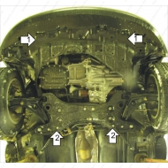 "Защита ""Motodor"" для двигателя и КПП Great Wall Hover M2, M4 2011-2020.Артикул: 63101. Артикул: 63101"
