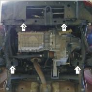 """Защита """"Motodor"""" для двигателя, КПП Chery Kimо хэтчбек 2007-2020. Артикул: 69002"""