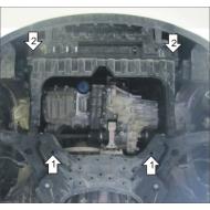 """Защита """"Motodor"""" для картера и КПП Hyundai Solaris седан, хэтчбек 2010-2017. Артикул: 70901"""