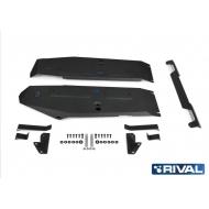 """Защита алюминиевая """"Rival"""" для топливного бака (черная) Mercedes-Benz G-klasse III W464 2018-2020. Артикул: 333.3955.1"""