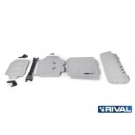 "Защита алюминиевая ""Rival"" для радиатора, картера, КПП и РК Mercedes-Benz G-klasse III W464 2018-2020. Артикул: K333.3946.1"