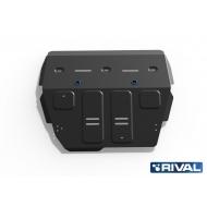 "Защита ""Rival"" для картера и КПП Haval H2 МКПП 4WD 2014-2020. Артикул: 111.9401.1"