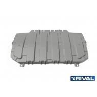 """Защита алюминиевая """"Rival"""" для картера и КПП Mazda CX-5 II 2017-2020. Артикул: 333.3825.1"""