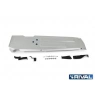 """Защита алюминиевая """"Rival"""" для топливного бака Jeep Wrangler IV JL 2-дв. 4WD 2017-2020. Артикул: 333.2746.1"""