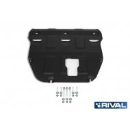 "Защита ""Rival"" для картера и КПП Hyundai Sonata VIII DN8 2019-2020. Артикул: 111.2383.1"