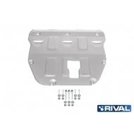 "Защита алюминиевая ""Rival"" для картера и КПП Hyundai Sonata VIII DN8 2019-2020. Артикул: 333.2383.1"