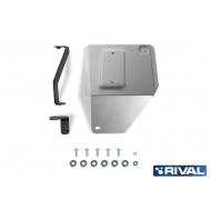"""Защита алюминиевая """"Rival"""" для адсорбера Kia Seltos CVT 4WD 2019-2020. Артикул: 333.2849.1"""