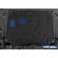 "Защита ""Rival"" для картера и КПП Hyundai Solaris II 2017-2020. Артикул: 111.2369.1"