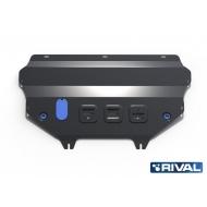 """Защита """"Rival"""" для картера и КПП Peugeot Partner Tepee II 2012-2018. Артикул: 111.4307.1"""