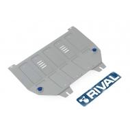 """Защита алюминиевая """"Rival"""" для картера и КПП Peugeot 408 2012-2020. Артикул: 333.1203.2"""