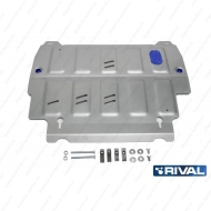 "Защита алюминиевая ""Rival"" для картера и КПП Nissan Pathfinder R52 2014-2020. Артикул: 333.2415.2"