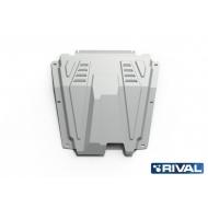"""Защита алюминиевая """"Rival"""" для картера и КПП Renault Logan I 2005-2014. Артикул: 333.6027.1"""