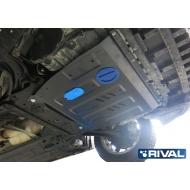 "Защита ""Rival"" для картера и КПП Nissan Sentra B17 АКПП 2014-2017. Артикул: 111.4151.1"