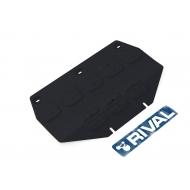 """Защита """"Rival"""" для картера (часть 1) Genesis G90 4WD 2016-2020. Артикул: 111.2353.1"""