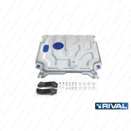"Защита алюминиевая ""Rival"" для картера и КПП Hyundai Solaris 2017-2020. Артикул: 333.2369.1"