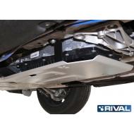 """Защита алюминиевая """"Rival"""" для КПП BMW 1-серии F20 RWD 2015-2020. Артикул: 333.0528.1"""