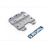 "Защита алюминиевая ""Rival"" для радиатора Lexus GS 250 2013-2020. Артикул: 333.3214.1"