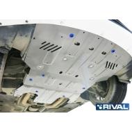 "Защита алюминиевая ""Rival"" для картера Porsche Panamera I 4WD 2009-2016. Артикул: 333.4608.1"
