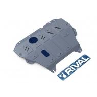 "Защита алюминиевая ""Rival"" для картера и КПП Nissan Sentra B17 АКПП 2014-2017. Артикул: 333.4151.1"
