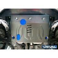 "Защита алюминиевая ""Rival"" для картера и КПП Ford Edge 2014-2015. Артикул: 333.1837.1"