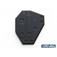 """Защита """"Rival"""" для топливного бака Hyundai Santa Fe (вкл. Premium) III 4WD 2012-2017. Артикул: 111.2338.1"""