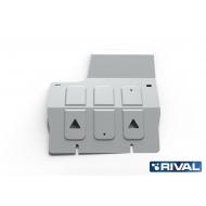 """Защита алюминиевая """"Rival"""" для КПП Land Rover Defender 90/110 2007-2016. Артикул: 333.3111.1"""