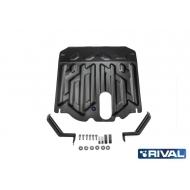 "Защита ""Rival"" для картера и КПП Hyundai Santa Fe (вкл. Premium) III 2012-2017. Артикул: 111.2341.1"