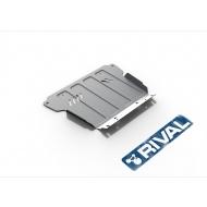 "Защита алюминиевая ""Rival"" для картера Nissan NP300 2008-2015. Артикул: 333.4125.1"