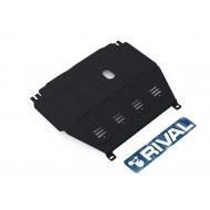 """Защита """"Rival"""" для картера и КПП Chevrolet Aveo II МКПП 2012-2015. Артикул: 1.1015.1"""