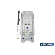 """Защита алюминиевая """"Rival"""" для КПП Lexus LX 2008-2020. Артикул: 333.9507.1"""