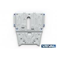 """Защита алюминиевая """"Rival"""" для картера и КПП Mercedes-Benz A-Class W176 A45 AMG 2012-2018. Артикул: 333.3928.1"""