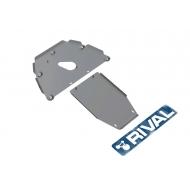 """Защита алюминиевая """"Rival"""" для картера и КПП BMW 7-серия E65, E66 2001-2008. Артикул: 333.0520.1"""