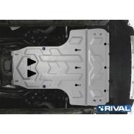 """Защита алюминиевая """"Rival"""" для картера и КПП Audi A6 АКПП 2011-2018. Артикул: 333.0314.2"""