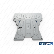 """Защита алюминиевая """"Rival"""" для картера и КПП Audi A4 B8 2008-2015. Артикул: 333.0324.1"""