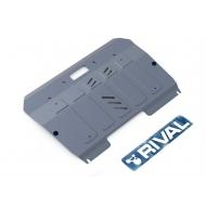 """Защита алюминиевая """"Rival"""" для картера и КПП Mazda CX-9 I 2007-2012. Артикул: 333.3806.1"""