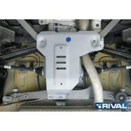 """Защита алюминиевая """"Rival"""" для редуктора BMW X1 F48 4WD 2015-2020. Артикул: 333.0527.1"""