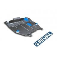 """Защита алюминиевая """"Rival"""" для картера и КПП Honda CR-V IV 2012-2015. Артикул: 333.2125.1"""