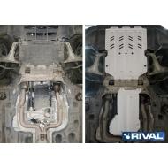"Защита алюминиевая ""Rival"" для картера, КПП, РК Maserati Levante 2016-2017. Артикул: K333.3601.1"