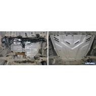 """Защита алюминиевая """"Rival"""" для картера и КПП Ford Kuga I 2008-2013. Артикул: 333.1850.1"""