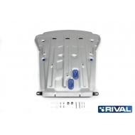 """Защита алюминиевая """"Rival"""" для картера BMW X6 2014-2020. Артикул: 333.0523.1"""