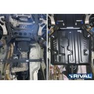 """Защита """"Rival"""" для КПП и РК Porsche Cayenne II, II 2010-2018. Артикул: 111.4604.1"""