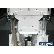 """Защита алюминиевая """"Rival"""" для РК Audi Q5 II АКПП 2017-2020. Артикул: 333.0339.1"""