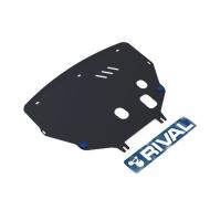 """Защита """"Rival"""" для картера и КПП Renault Kangoo I 1998-2003. Артикул: 111.1206.1"""