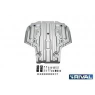 """Защита алюминиевая """"Rival"""" для КПП Audi A4 АКПП 2015-2020. Артикул: 333.0335.1"""